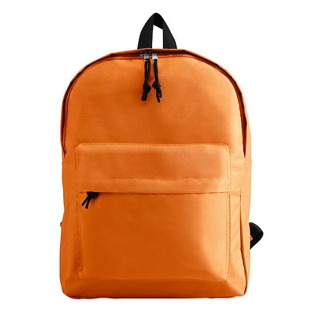 Batoh s vnější kapsou  - oranžová