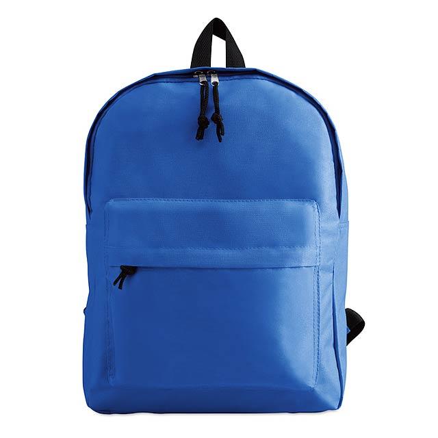Batoh s vnější kapsou - královsky modrá