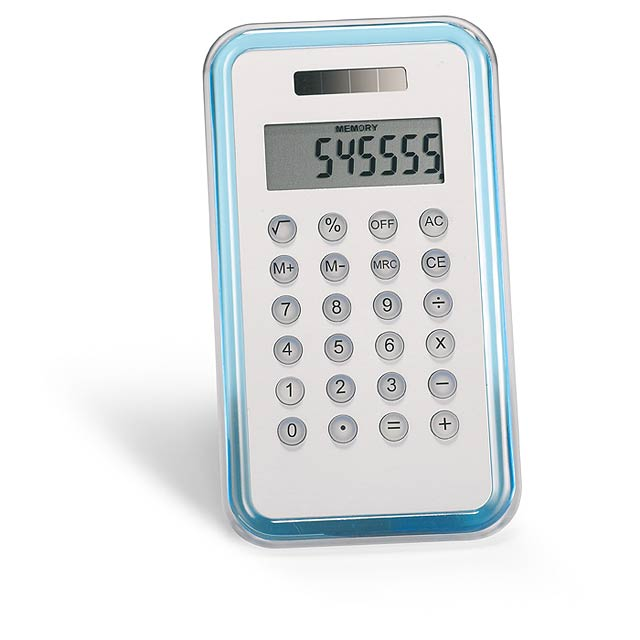 8 digit calculator  - transparent blue
