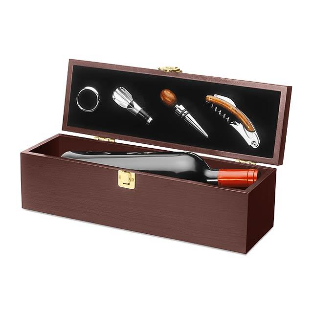 Dárková krabice na víno - dřevo