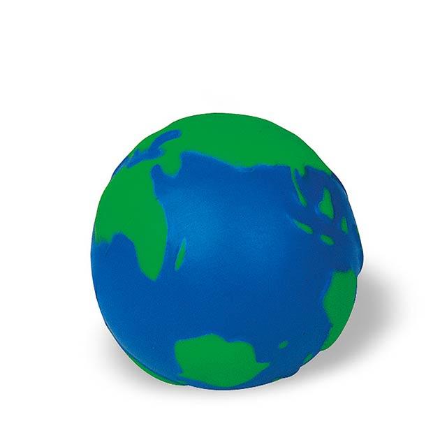 Antistresový míček - modrá/zelená