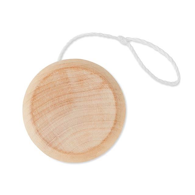 Dřevěné jojo. - dřevo - foto