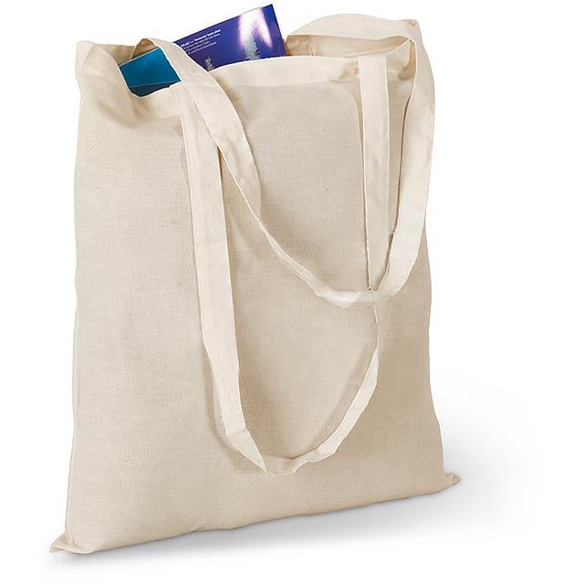 Nákupní taška. 100 gr/m² bavlna. - béžová - foto