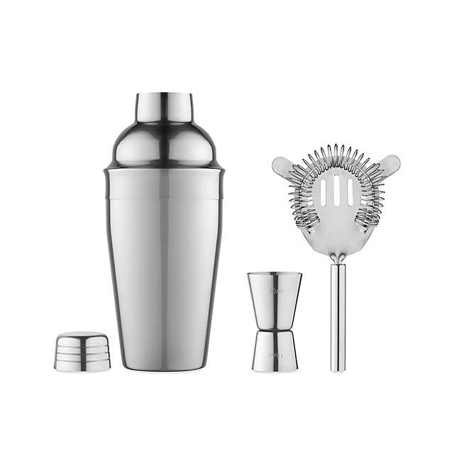 Koktejlový set - stříbrná lesk