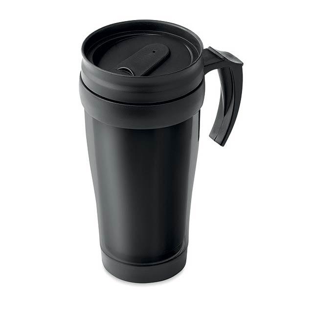 TAMPA - Plastový 400 ml hrnek          - černá