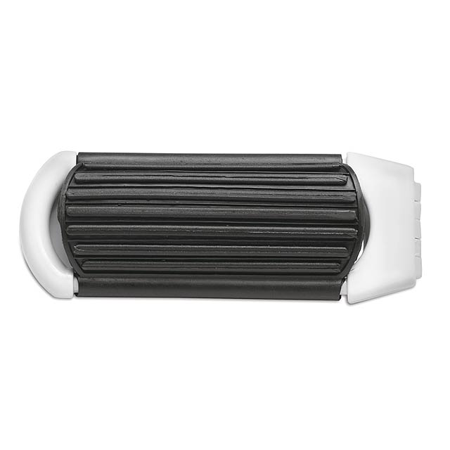 Foldable hairbrush with mirror  - white