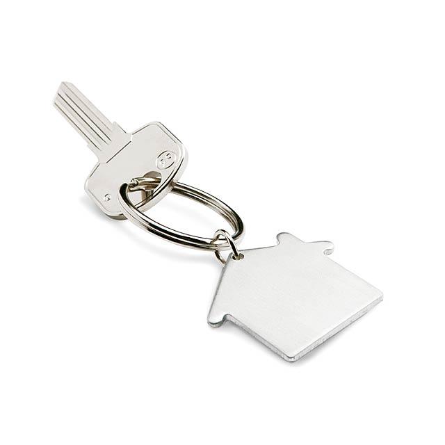 Přívěšek na klíče - stříbrná mat