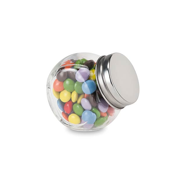 Mini candy jar with chocolates  - multicolor
