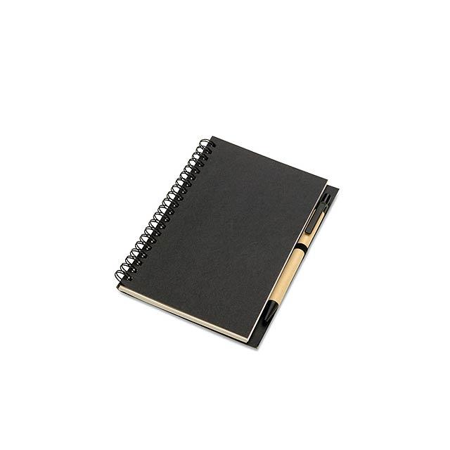 Eko psací set - blok - černá