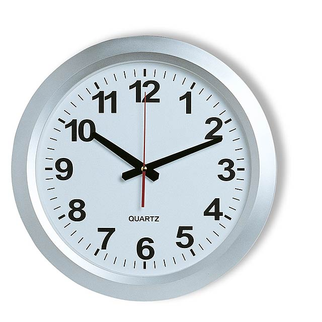 Railway station clock  - silver
