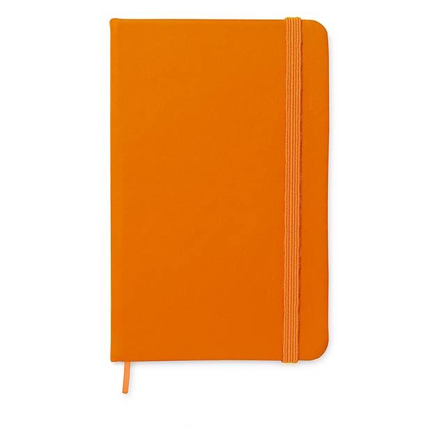 A6 linkovaný zápisník - notes - NOTELUX - oranžová