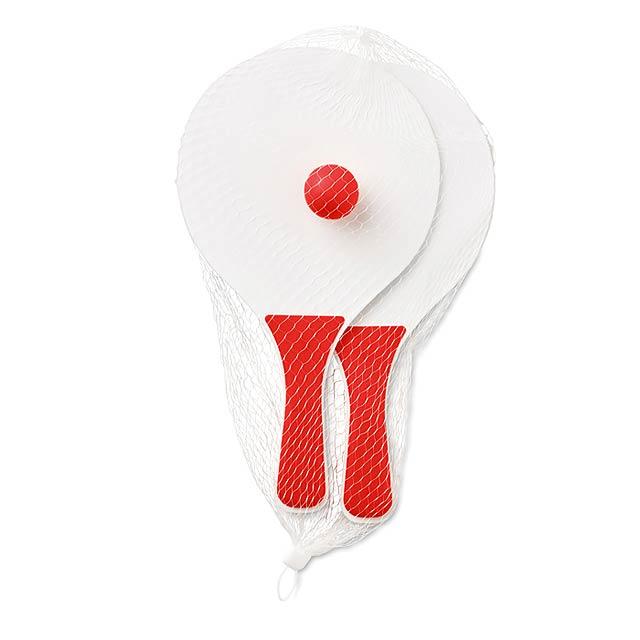 Plážový tenisový set - MINI MATCH - červená