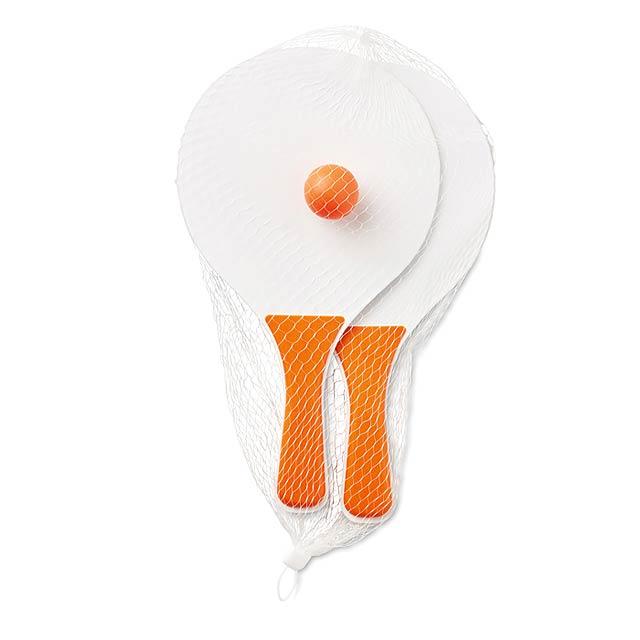 Plážový tenisový set - MINI MATCH - oranžová