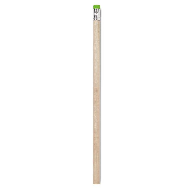 Bleistift mit Radiergummi - zitronengelb