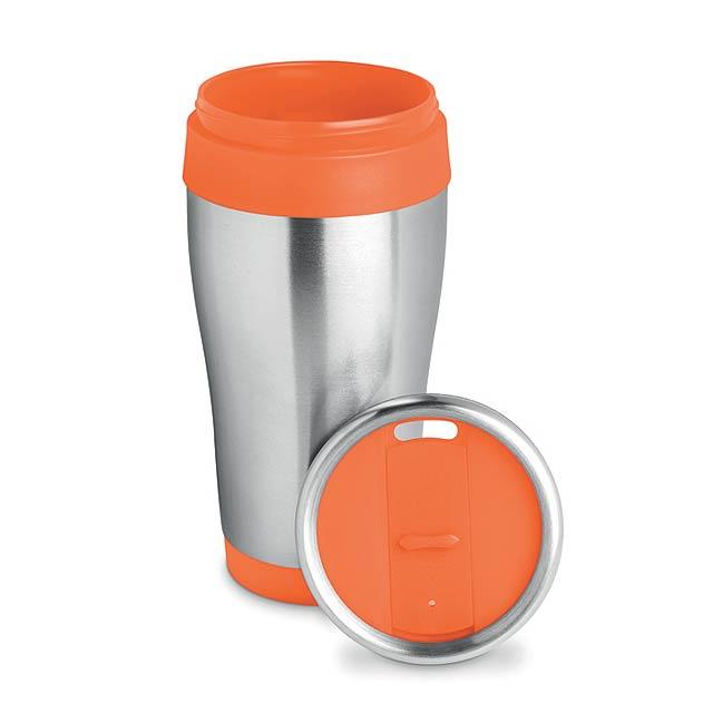 TRAM - Nerezový termohrnek            - oranžová
