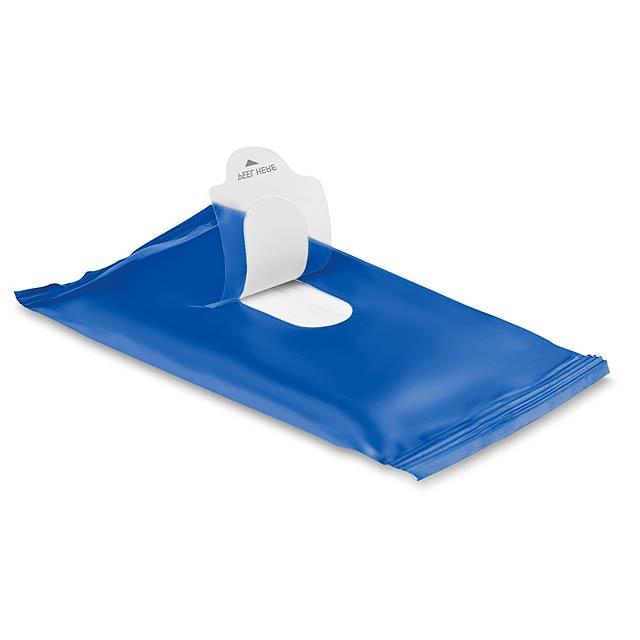 Vlhčené ubrousky  - modrá