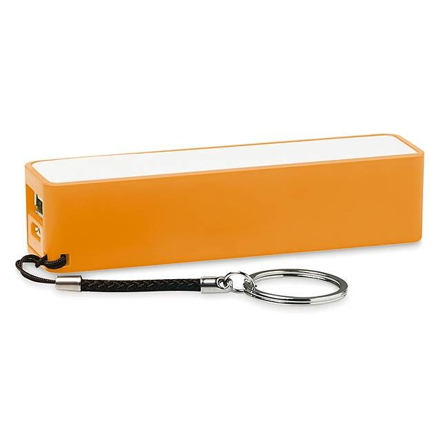 Slim PowerBank 2200mAh - Powermate - oranžová