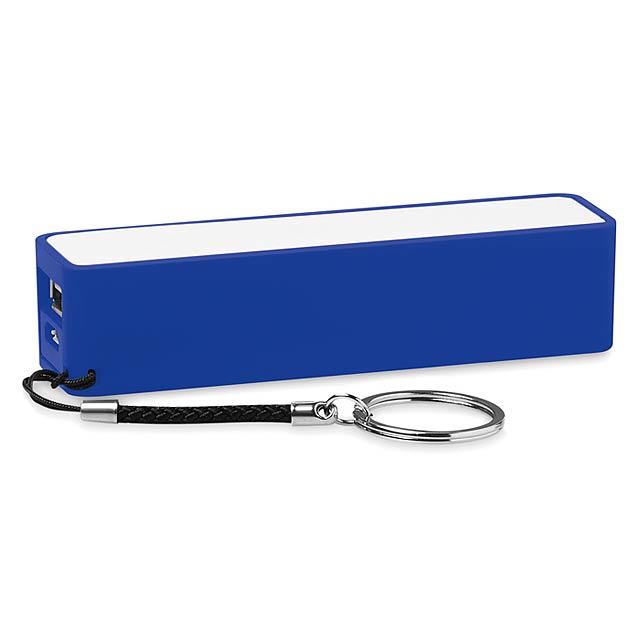 Slim PowerBank 2200mAh - Power Mate - královsky modrá