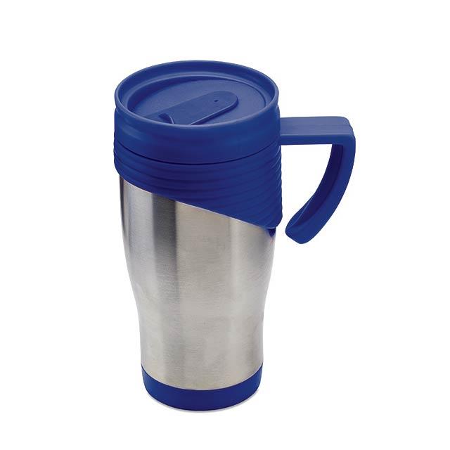 DEEPORT - Nerezový termohrnek            - královsky modrá