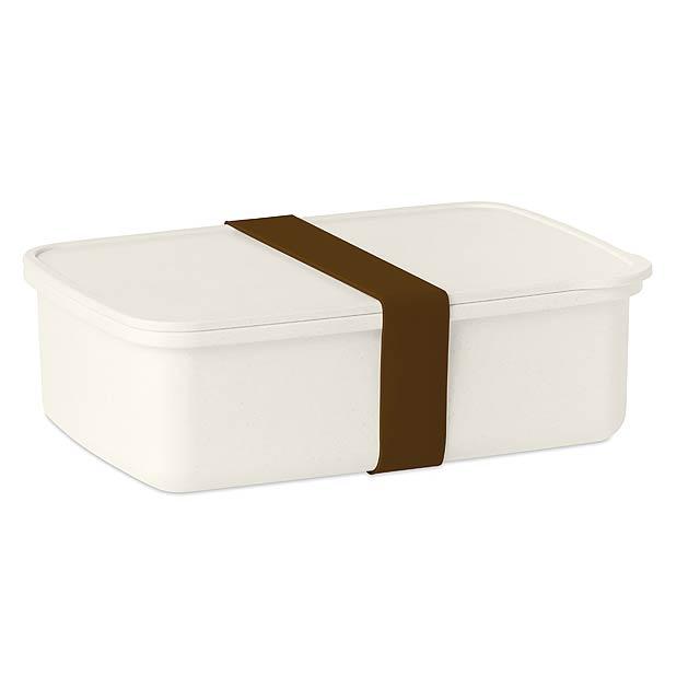 NANBOX - Obědová krabička s gumičkou  - hnědá