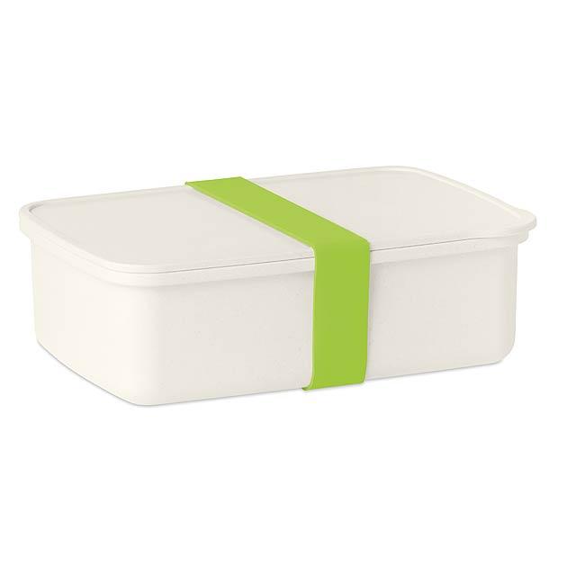 NANBOX - Obědová krabička s gumičkou  - citrónová - limetková