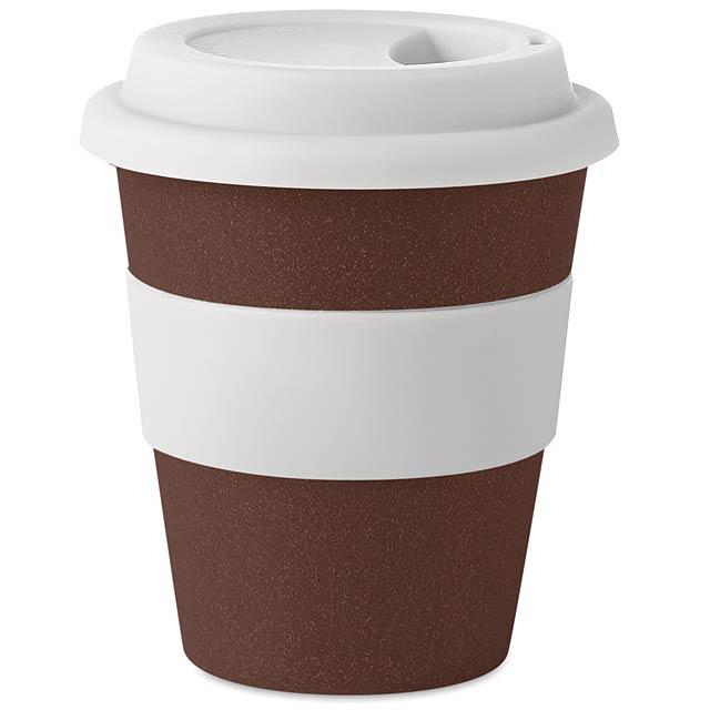 BRAZIL WHITE - Pohárek z kávového zrna a PP  - bílá