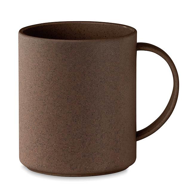 BRAZIL MUG - Hrnek z kávového zrna a PP  - hnědá