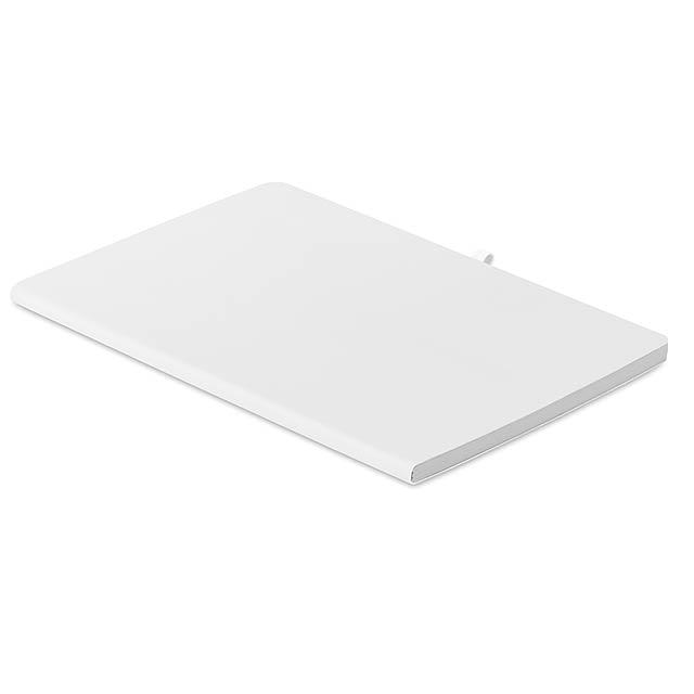 RAINBOW - A5 zápisník s měkkými deskami  - bílá