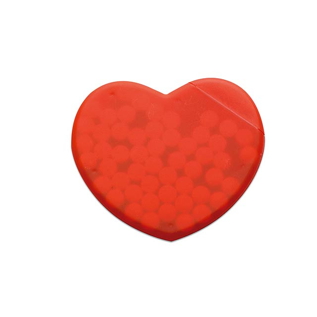 Heart shape peppermint box  - red