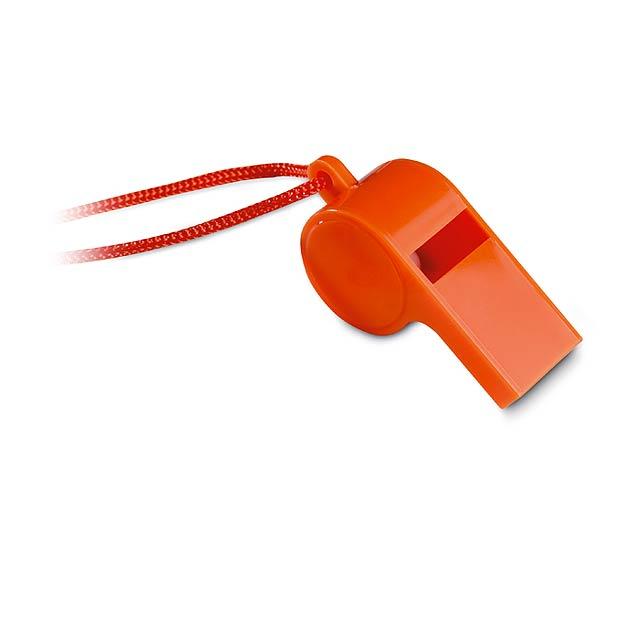 Píšťalka - oranžová