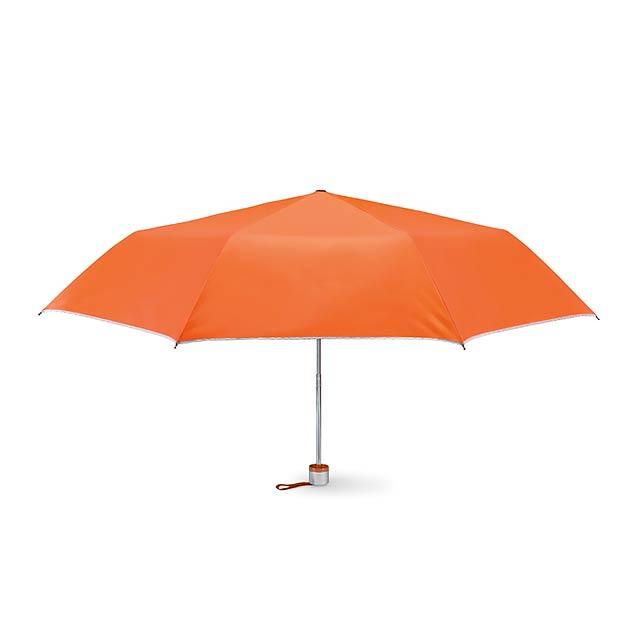 Skládací deštník - CARDIF - oranžová