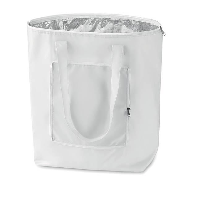 Skládací chladící taška - bílá