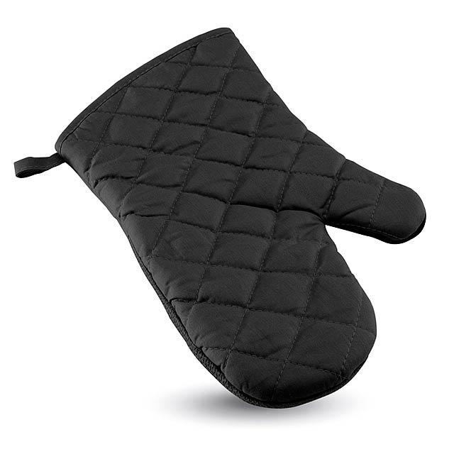 Pogumovaná kuchyňská rukavice - Neokit - černá