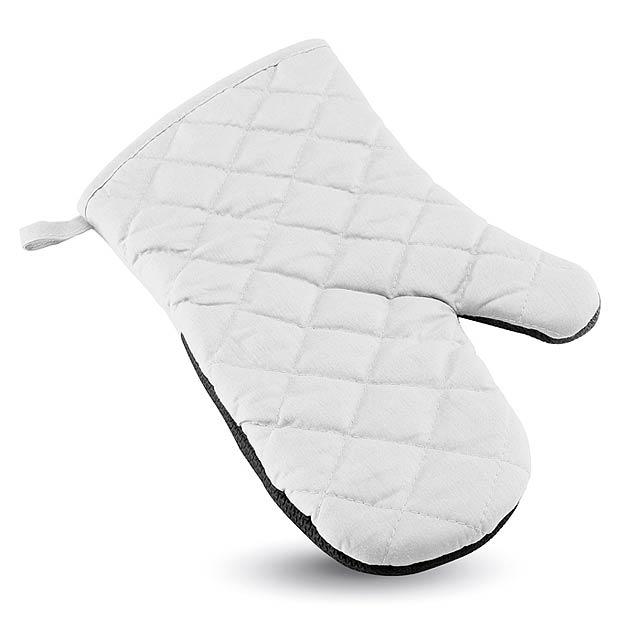 Pogumovaná kuchyňská rukavice - Neokit - bílá