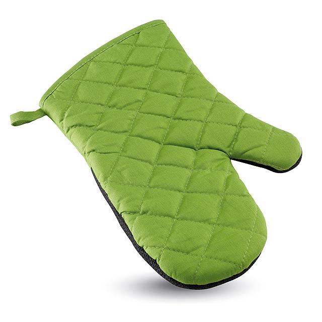 Pogumovaná kuchyňská rukavice - zelená