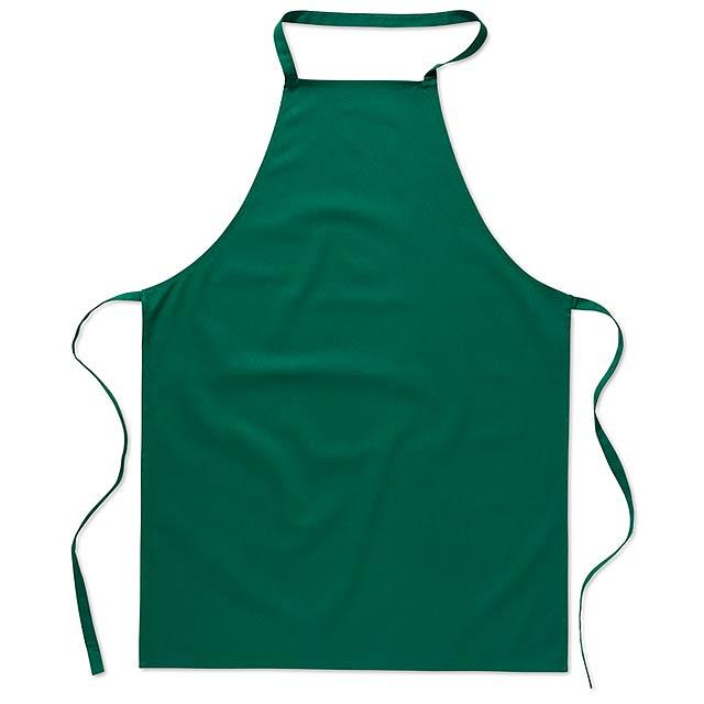 Kuchyňská bavlněná zástěra - zelená