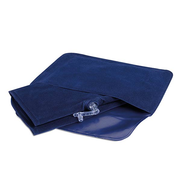 Nafukovací cestovní polštářek - modrá