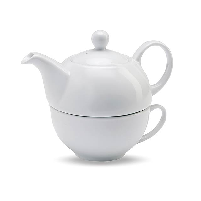 Čajová sada - bílá
