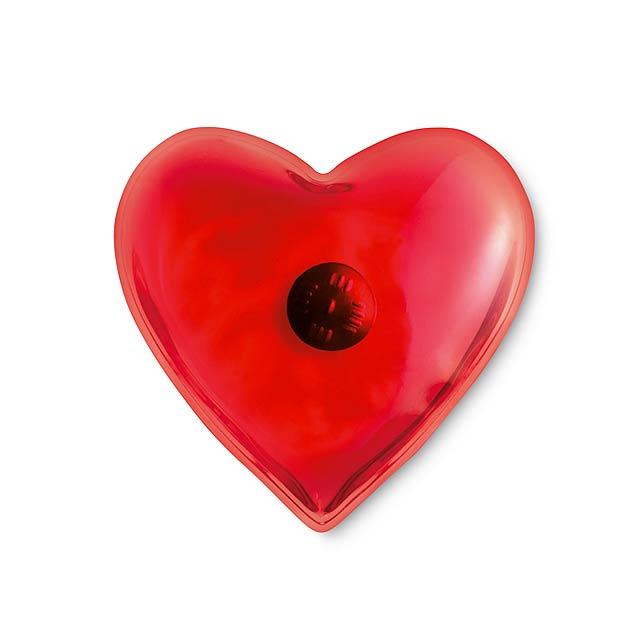 Ohřívač rukou tvaru srdce - červená