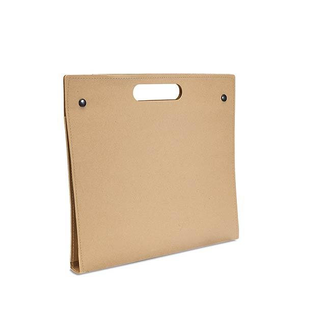 Recyklované konferenční desky - portfolio - béžová