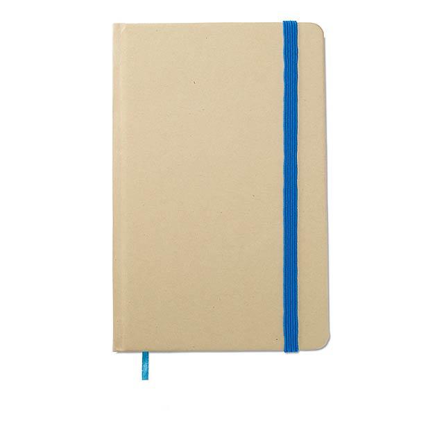 Recyklovaný zápisník blok - modrá