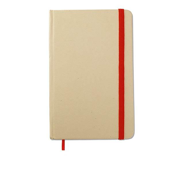 Recyklovaný zápisník blok - červená