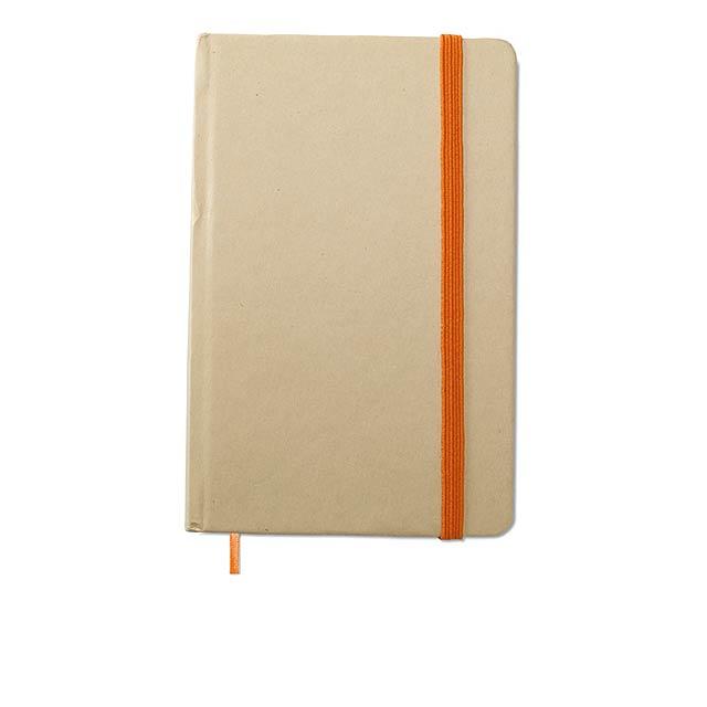 Recyklovaný zápisník blok - oranžová