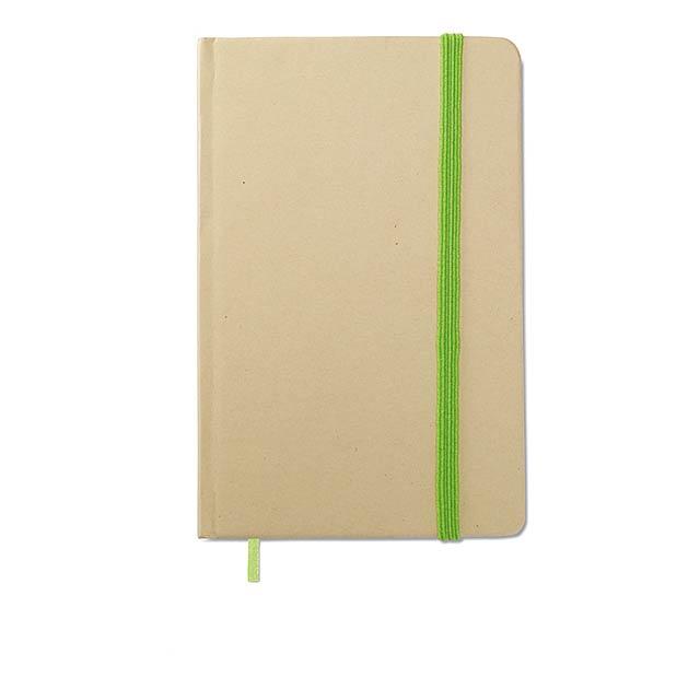Recyklovaný zápisník blok - citrónová - limetková