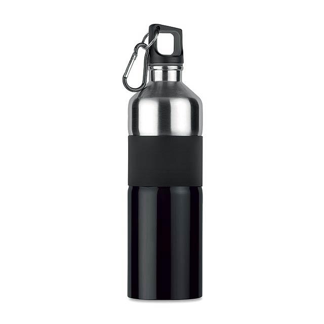 TENERE - Dvoubarevná láhev na pití      - černá