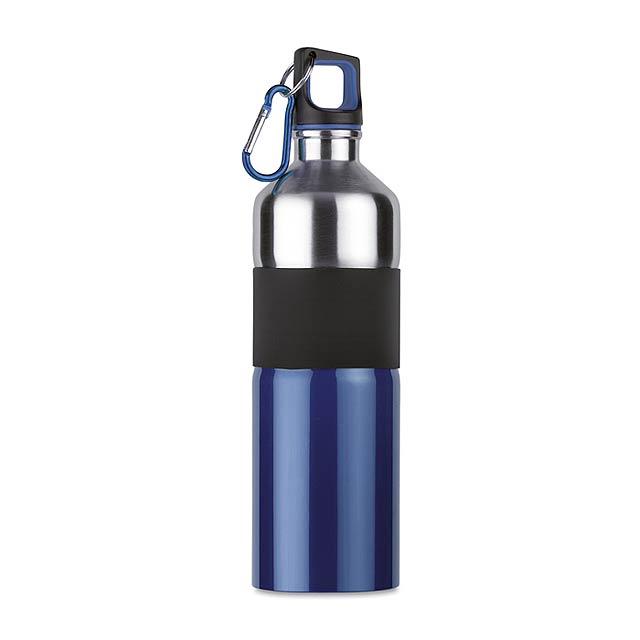 Dvoubarevná láhev na pití - modrá