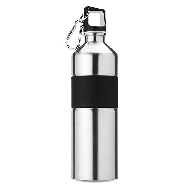 Dvoubarevná láhev na pití  - stříbrná mat