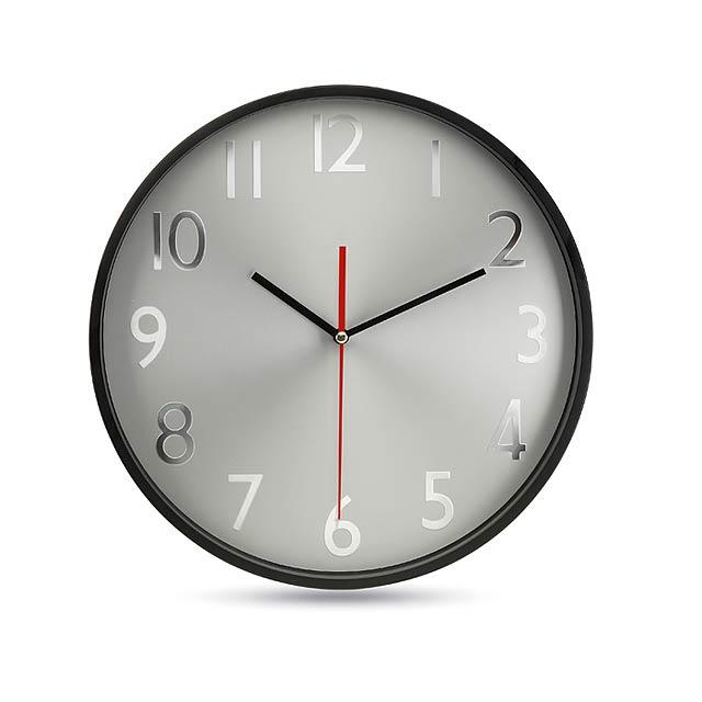 Nástenné hodiny - čierna