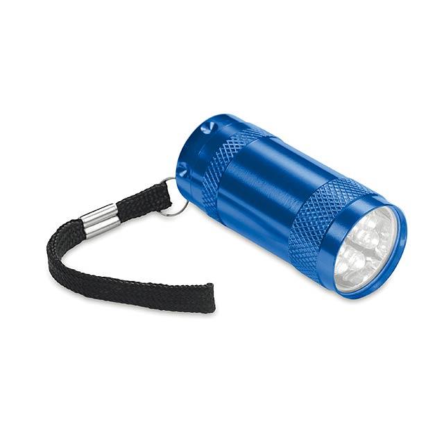 Hliníková mini svítilna - modrá