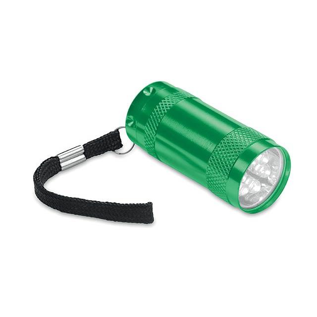 TEXAS - Hliníková mini svítilna        - zelená